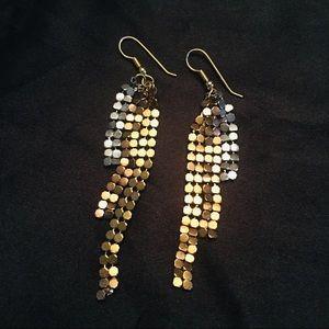 ✨3 for $15✨ Gold Silver & Bronze 3 Strand Earrings